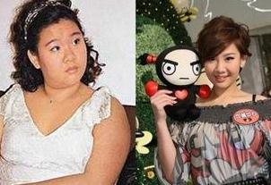 郑欣宜减肥前后图片对比